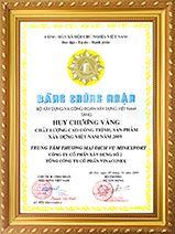Huy chương vàng công trình<br/> chất lượng cao