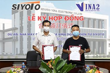 VINA2 tiếp tục được trao gói thầu xây dựng dự án nhà máy sản xuất và kinh doanh điện tử SIYOTO VINA