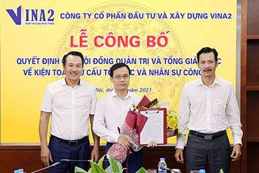 Công ty cổ phần Đầu tư và Xây dựng VINA2 bổ nhiệm tân Kế toán trưởng