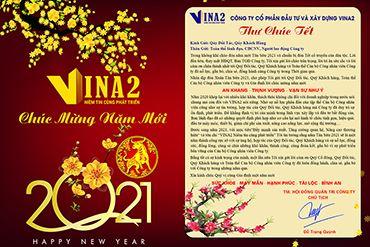 VINA2 thông báo lịch nghỉ Tết Dương lịch 01/01/2021