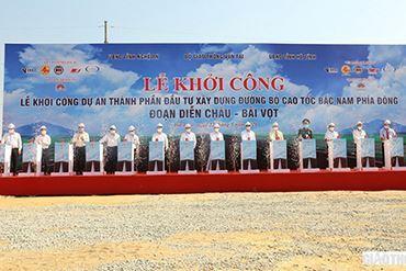 Khởi công cao tốc Bắc Nam đoạn Diễn Châu-Bãi Vọt dài gần 50km
