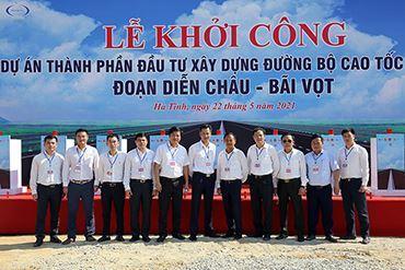 VINA2 tham dự lễ khởi công dự án cao tốc Bắc - Nam đoạn Diễn Châu - Bãi Vọt