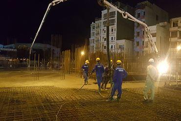VINA2 khóa sàn cos 0.00 hoàn thiện phần hầm dự án I Tower