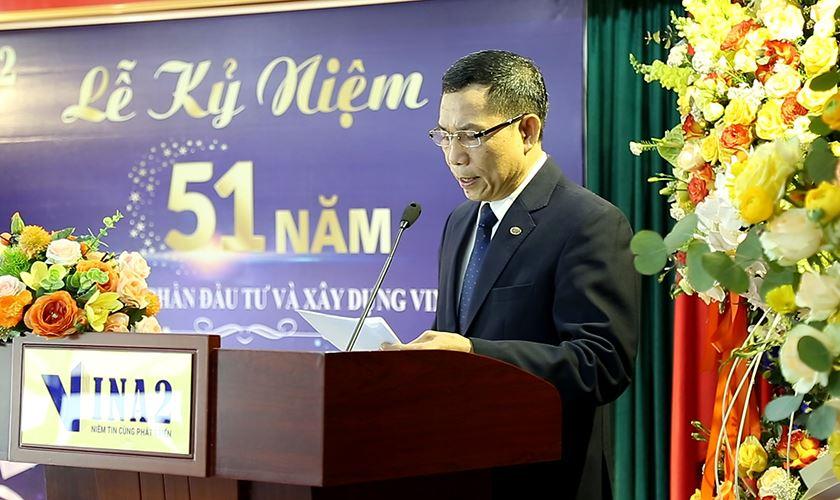 Ông Dương Đức - Chủ tịch Công Đoàn đọc diễn văn kỷ niệm
