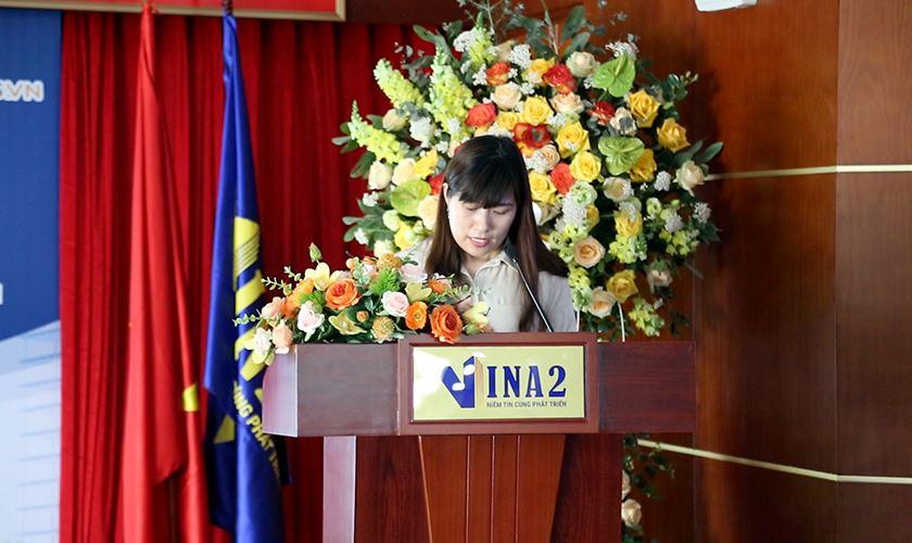 Bà Trịnh Thị Thúy Vân - Trưởng phòng KD&QLĐT giới thiệu chi tiết dự án