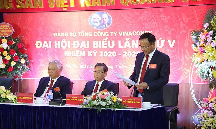 Ông Đỗ Trọng Quỳnh phát biểu tại Đại hội
