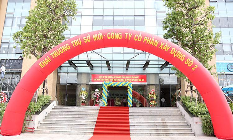 Trụ sở mới Công ty CPXD số 2 - Tòa B (VC2 Golden Heart) khu ĐTM Kim Văn Kim Lũ
