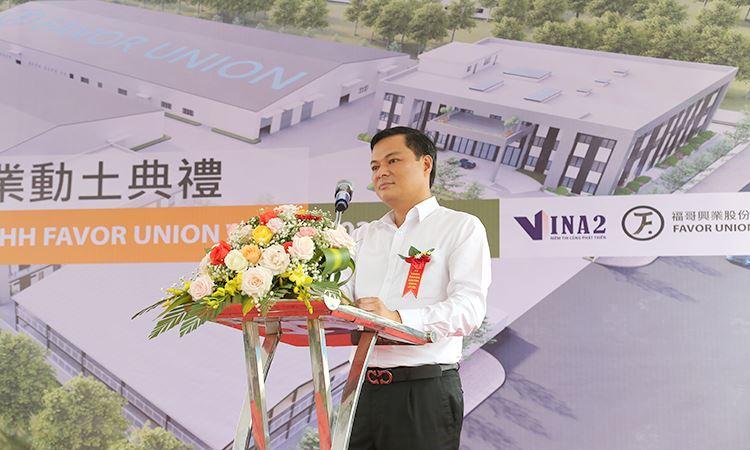Ông Trần Văn Kiên - Trưởng ban quản lý KCN Hà Nam phát biểu tại buổi lễ