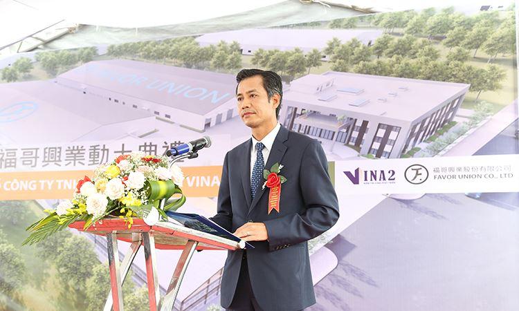 Ông Nguyễn Việt Cường - TGĐ VINA2 phát biểu tại buổi lễ