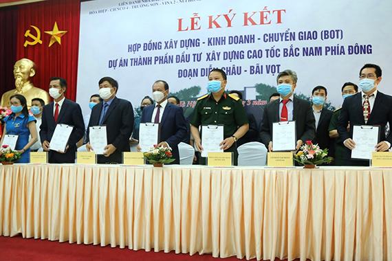 VINA2 tham dự Lễ ký HĐ Dự án cao tốc Diễn Châu Bãi Vọt đầu tư theo hình thức PPP